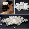 Factory Price  High Quality European Style Hand made Wedding Flower Hat As the Wedding Photos Bride Headwear  FW60