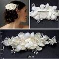 Preço de fábrica de alta qualidade estilo europeu feito à mão flor do casamento Hat como a fotos de casamento noiva Headwear FW60
