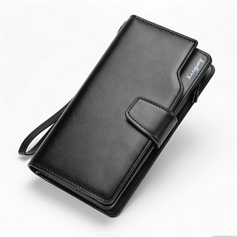 Famous Brand Mens Long Wallet Genuine Leather Men Clutch Bag,Business Designer Men Handbag,Multi-card Bit Mens Wallet Purses