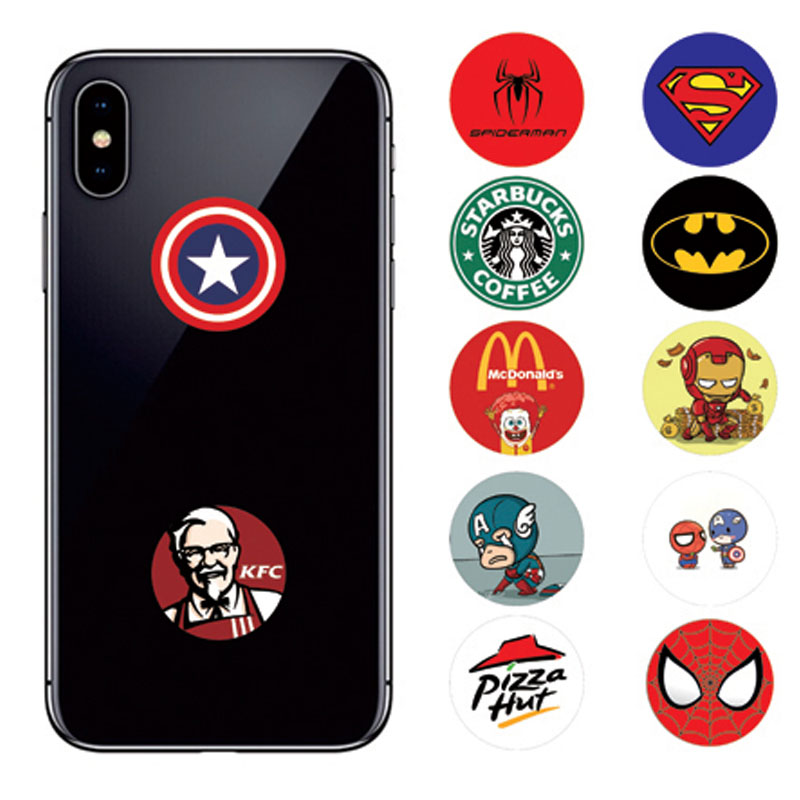 Round Cartoon Phone Holder Spiderman Desk Table Smartphone Tablet