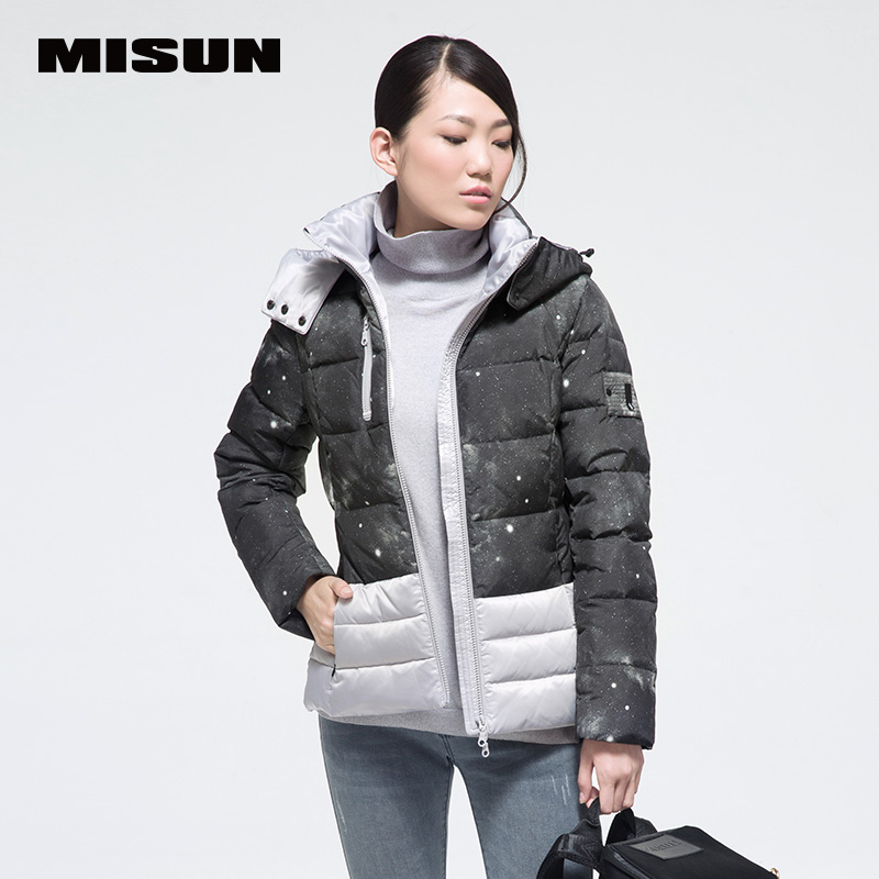 new arrival winter female jackets Misun 2017 fashionable casual short design colorant match slim   down     coat   women's
