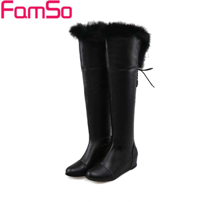 Plus Size34 43 2016 New Sexy font b Women b font Boots Real Fur Boots Autumn