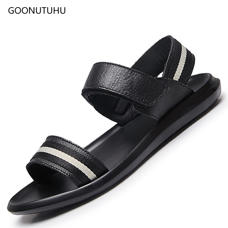 2019 New style mens sandals summer shoes genuine leather casual fashion beech sandals for men platform sandal soft outdoor men 2019 New style mens sandals summer shoes genuine leather casual fashion beech sandals for men platform sandal soft outdoor men
