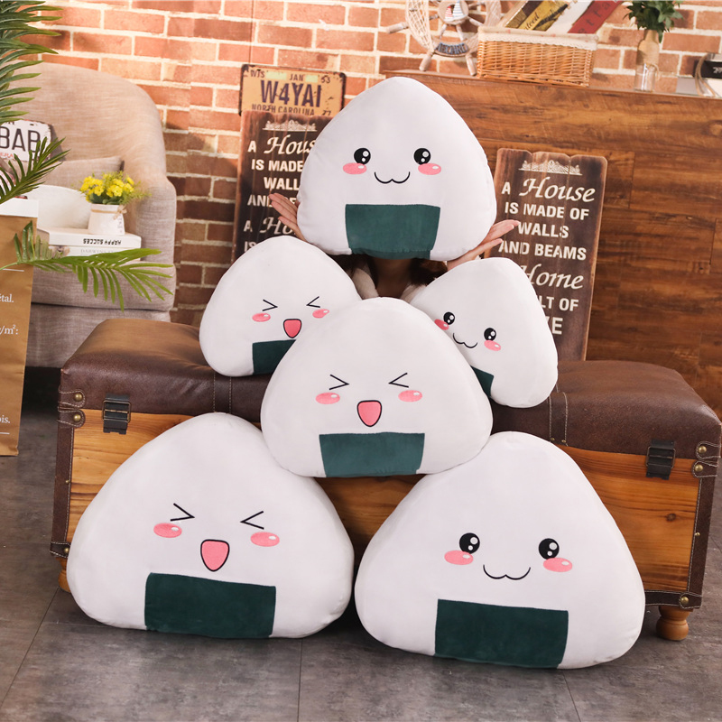 plush toy Sushi Japanese dish rolls cold rice roll ball rest pillow cushion gift