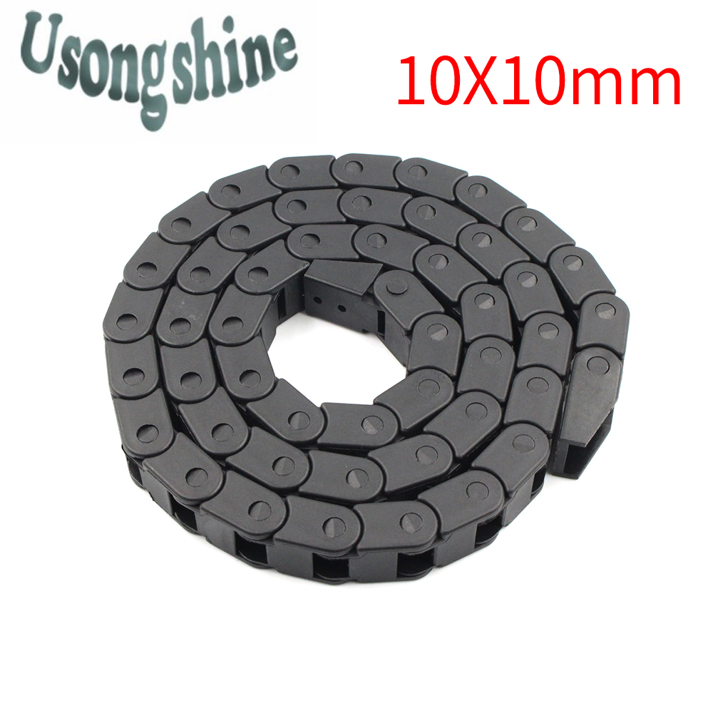 Drag Chain L1000mm ..Transmission Chains 10 x 10mm Cable Wire Carrier with end connectors for CNC Router Machine Tools 10*10mm free shipping best price 10 x 15mm l550mm cable drag chain wire carrier with end connectors for cnc router machine tools