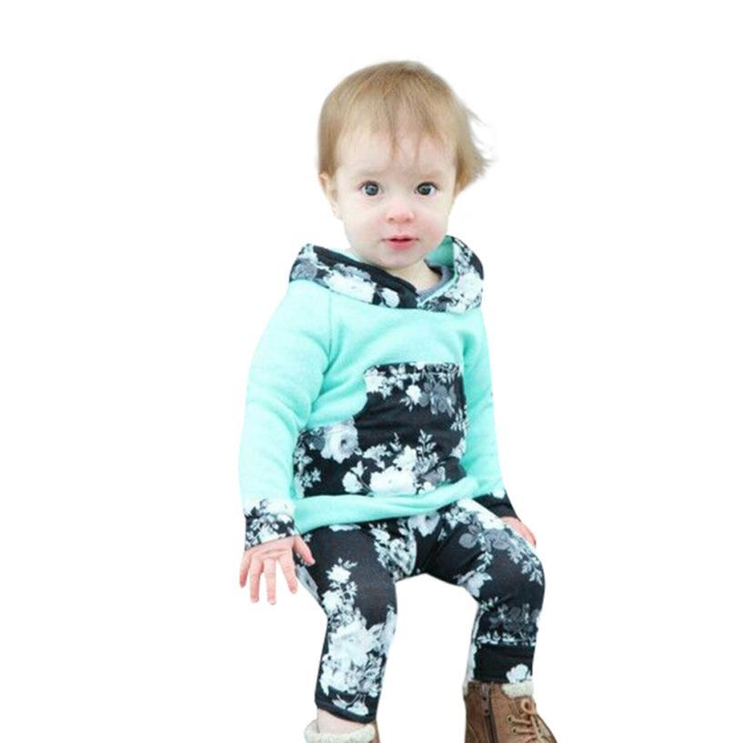 Для маленьких мальчиков одежда супер милые дети младенческой детские с длинным рукавом Цветочный принт капюшон Топы корректирующие компле...