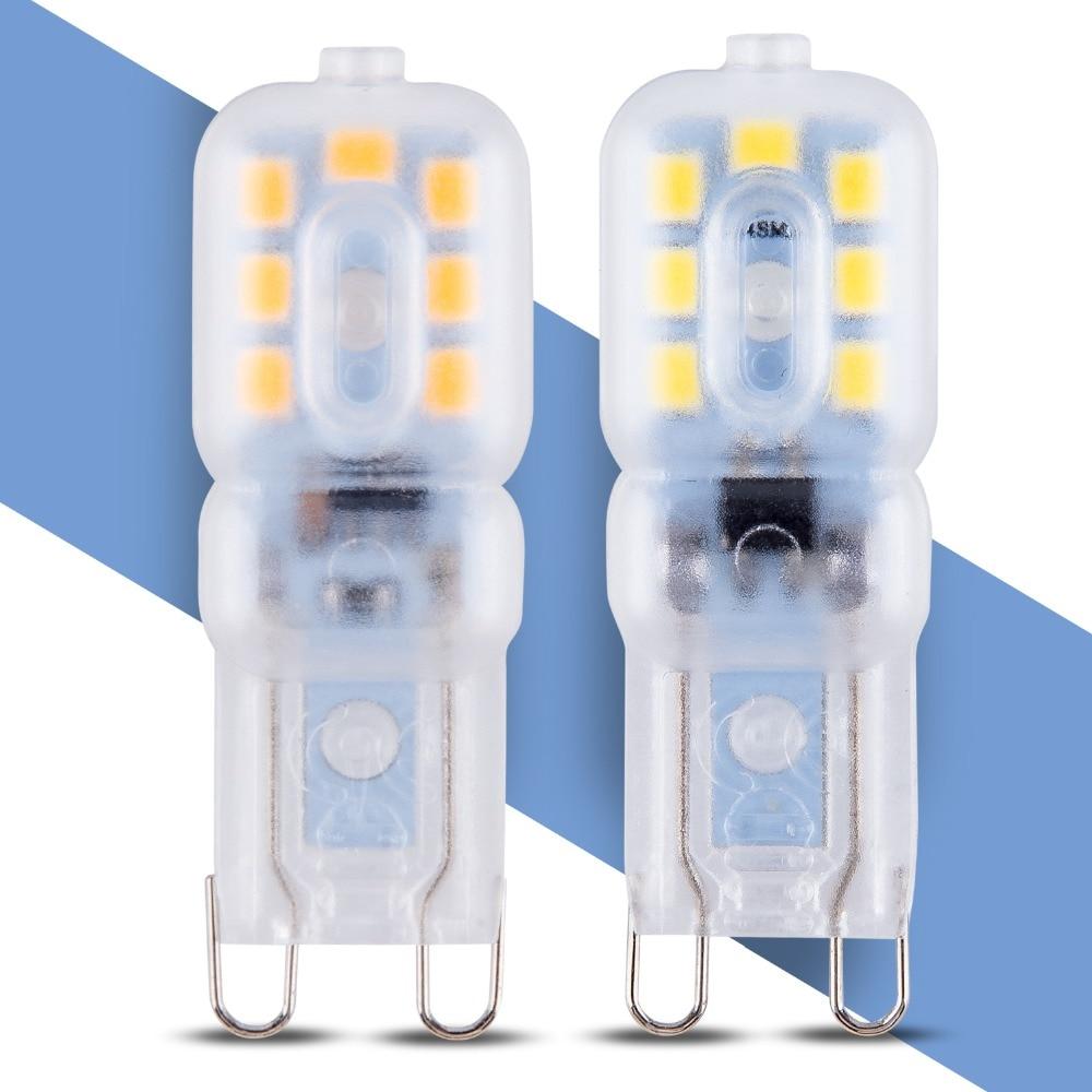 G9 3 w 5 w Ampola Lâmpada LED Conduziu a Lâmpada 220 v Mini G9 G9 CONDUZIU a Lâmpada Substituir 20 w 30 w Lâmpada Halógena SMD 2835 Iluminação da Decoração de Casa