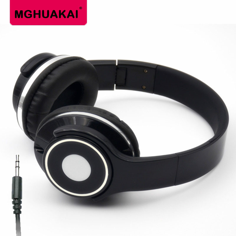 MGHUAKAI Headphones Earphones 3.5mm AUX Foldable Portable Adjustable Gaming Headset For Phones MP3 MP4 Computer PC Music Gift