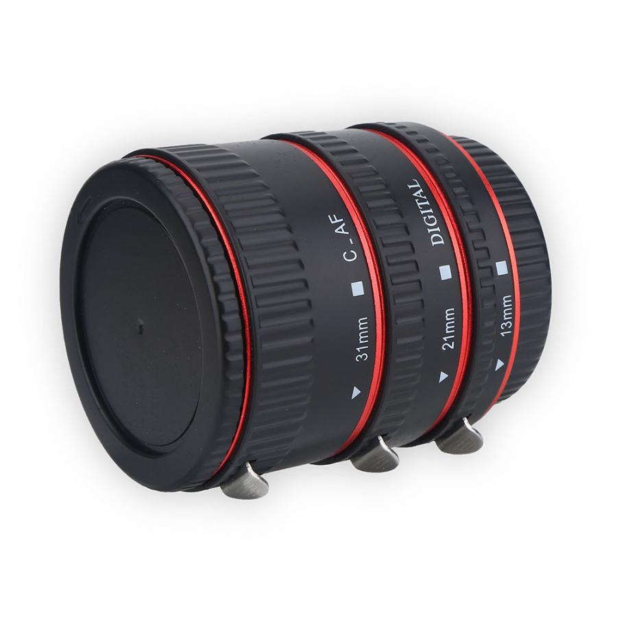 New Metal Auto Focusing Macro Extension Adapter Tube Ring Set For Canon EOS EF Lens Extension Adapter