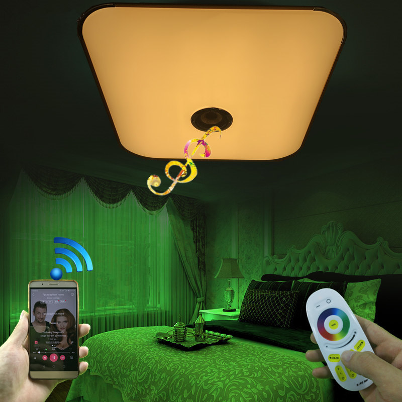 NEW Modern 2.4G RF Remote Group Controlled and Bluetooth Music Play Colorful Changing LED Ceiling Lamp For Livingroom BedroomNEW Modern 2.4G RF Remote Group Controlled and Bluetooth Music Play Colorful Changing LED Ceiling Lamp For Livingroom Bedroom