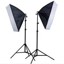 Photo Studio 2Pcs 50*70cm Softbox E27 Single Lamp Holder 100 240V Continuous Lighting Diffuser Soft Box 2M Light Stand 2PCS