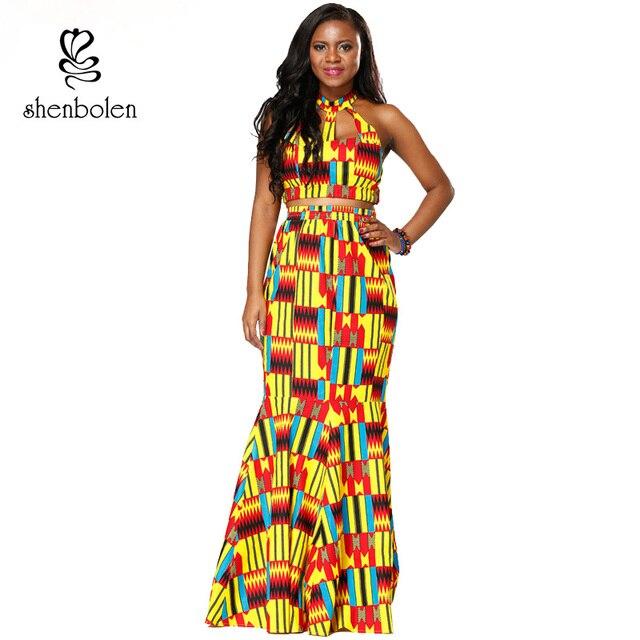1b36d0d677ed0 Shenbolen African Clothes for women Set ankara kente cloth sexy Top+skirt Ankara  style clothing Set