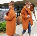 Женская мода кашемировые пальто женский смесь шерсти пальто шерстяное зимняя куртка женщины пальто женский осень casaco feminino одна кнопка