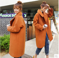 fashion women cashmere coat female blend wool coat woolen winter jacket woman coat female autumn casaco feminino one button