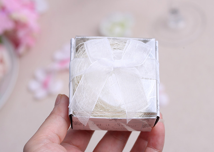 New Arrival Factory Directly Sale Wedding Favor Snowflake Circular Shaped Scented Soap Favors Party Decoration And Baby Show