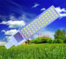 1pcs/lot Horizontal Plug Lamp LED Bulb 11W 5050 SMD 52LED E2 7G24 G23 Corn Light Lamp Warm White AC85V-265V Side lighting