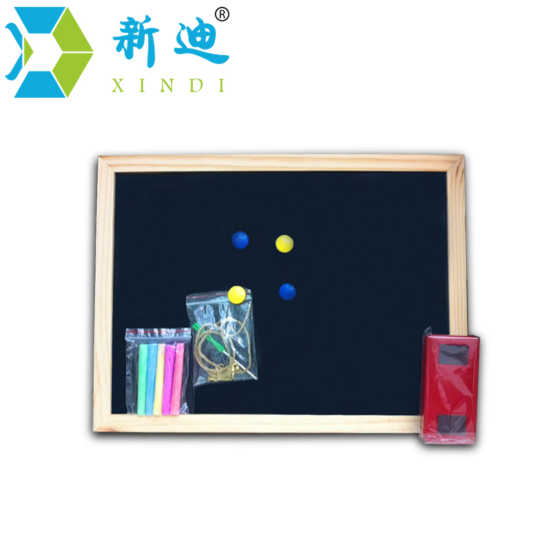Free Shipping 2018 Wood Magnetic BlackBoard Dry Wipe Chalkboard Office Supplier 20*30cm Factory Direct Sell Home Decorative