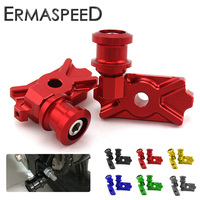 CNC Aluminum Motorcycle Swingarm Spools Stand Screw Bracket Accessory for Kawasaki Z125 Z 125 Pro 2017 Green Blue Red Gold Black
