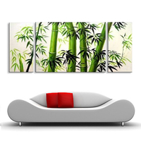 oil painting Abstract oil painting hand painted bamboo oil painting living room bedroom restaurant use Decorative DY 054