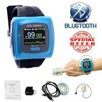 Бесплатная доставка bluetooth OLED Пульсоксиметр насыщения кислородом частота Пульса Палец зонд