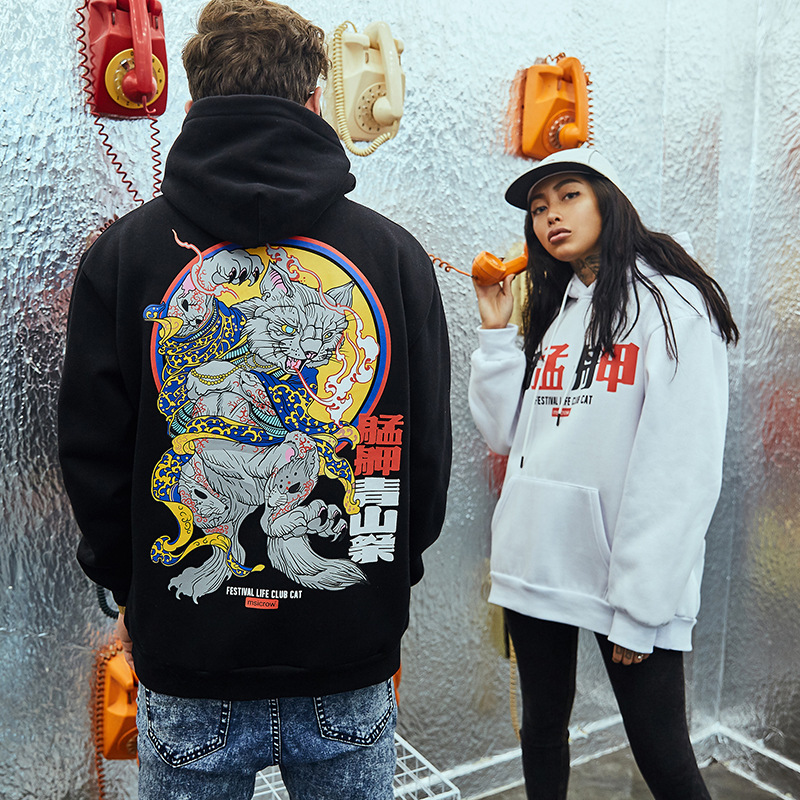 2018 Autumn Kanye West FESTIVAL LIFE CLUB CAT Hoodie Men Women Pullover Sweatshirts Hip Hip Hoodies L202 hoodie