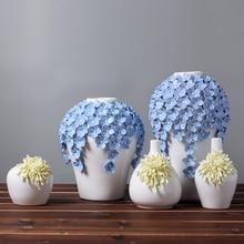 ceramic Yellow daisy flowers vase home decor large floor vases for weeding decoration ceramic handicraft porcelain figurines недорго, оригинальная цена