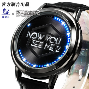 Now you see me 2 Hollywood Movie LED waterproof touch screen watch packaging and labeling