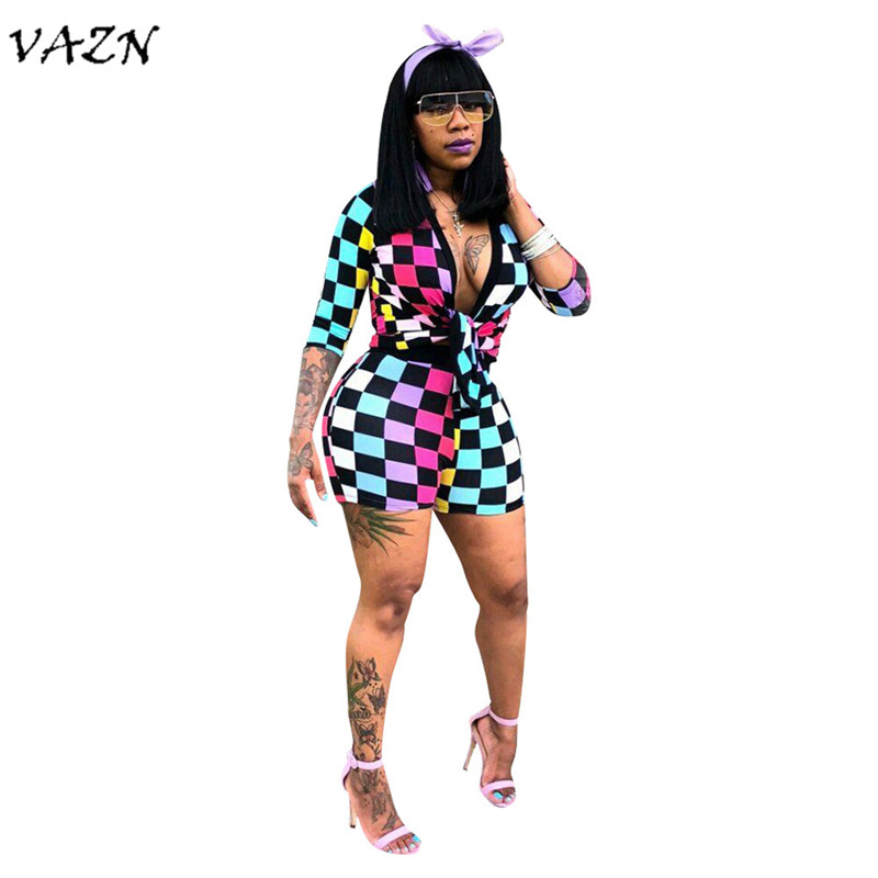 Suits & Sets Women's Clothing Vazn New Arrive Best Quality 2018 Casual Style 2 Piece Women Set Plaid Long Outwear Short Pants Bodycon Elasticity Set Ts835 Structural Disabilities