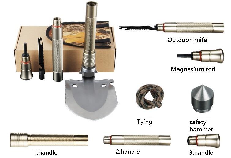 ФОТО Outdoor multifunction shovel, military multifunction folding shovel, camping gear driving tool
