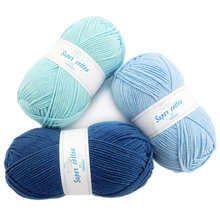 10 Pcs / Lot 60% Acrylic 40% cotton milk thick yarn crocheted soft baby for hand knitting crochet laine a tricoter