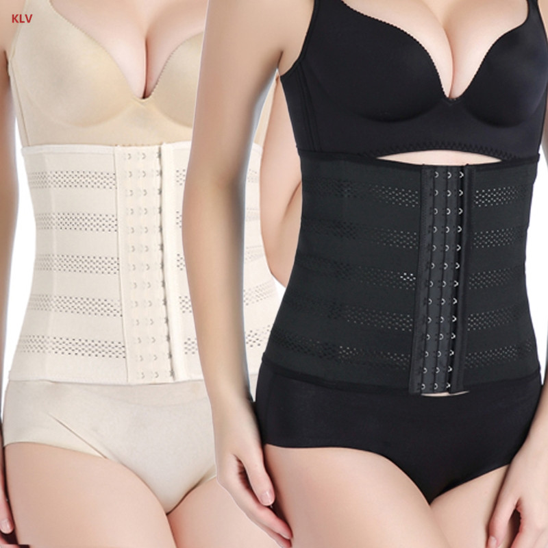 KLV Womens Waist Trainer Slimming Belt Body Shaper Corset Modeling Strap Plus Size