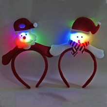 Xmas Blinking Flashing Santa Claus Headband Women Girls Fancy Dress Children Adult Christmas Decorations for Home