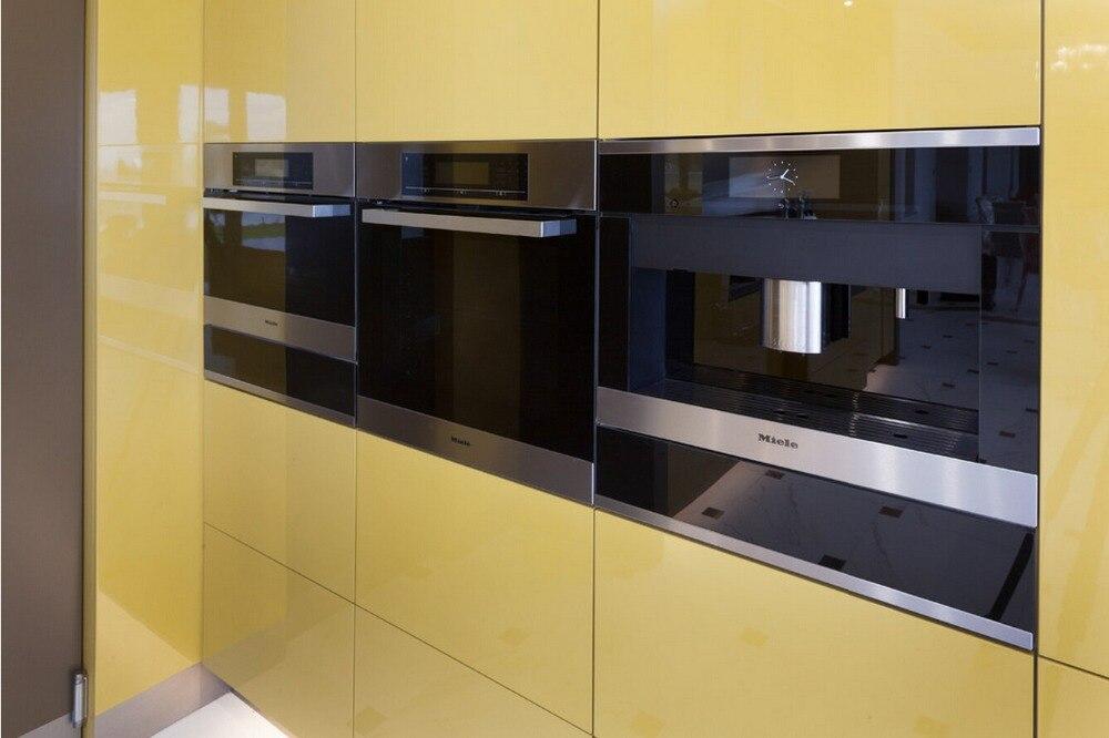 US $1200.0 |2017 vendite calde 2PAC mobili da cucina colore bianco moderno  high gloss lacquer mobili da cucina dispensa L1606068-in Accessori e ...