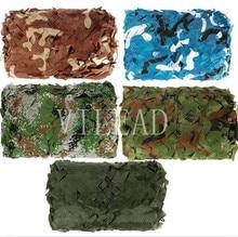 Купить с кэшбэком Loogu 9 colors 8M*8M camouflage netting camo net for photographing animals shade jungle shade hide car covers hunting hide