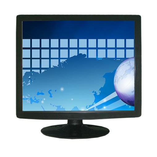 19 inch desktop 5-wire Resistive LCD touch screen monitor / POS display