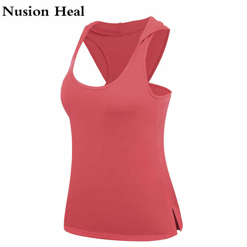 Fitness Women Sport Shirt Women Sleeveless Yoga Top Running Shirt Tank Tops Vest Fitness Women's Sports Shirt Fitness Clothing