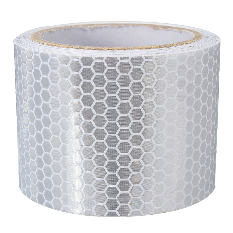 Silver White 3 Meters Car Reflective Safety Warning Conspicuity Roll Tape Film Sticker For Tricycles High Quality цены