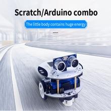 цена на Micro:bit Robot Arduino Scratch DIY Qbot Programming Inteligent Remote Control Car Models RC Parts Robot Toys