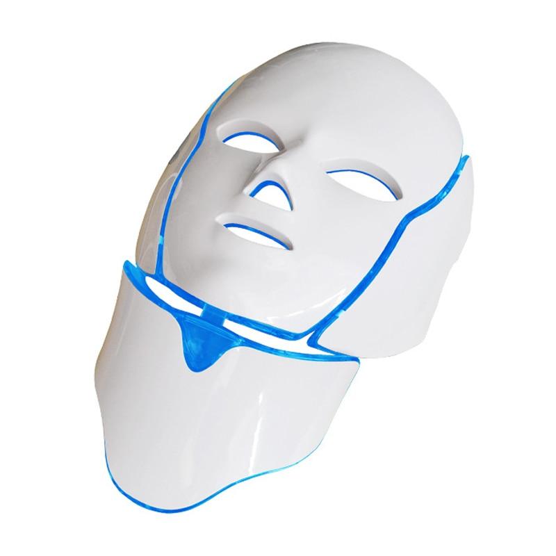 7 couleurs a mené le masque Facial de thérapie de beauté de Photon avec le rajeunissement de cou blanchissant la Machine de Spa de soin de peau de ride-retrait d'acné