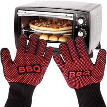 1 Pair Heat Resistant Thick Silicone Cooking Baking Barbecue Oven Gloves Multi-Purpose Grilling Oven Mitt Kitchen BBQ Gloves peppermint snowman holiday oven mitt
