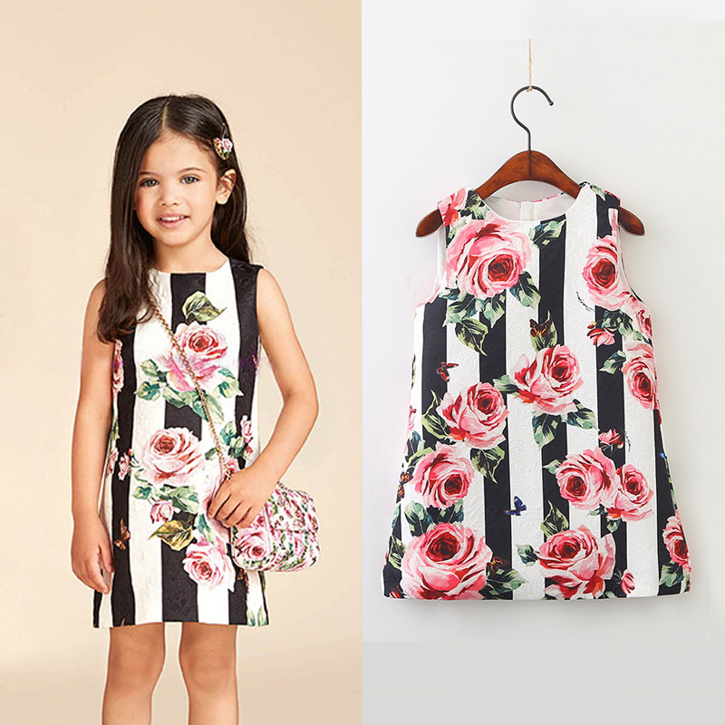 Aliexpress.com  Buy Little Girls Flowers Dress New Fashion Spring 2018 Brand Floral Girls ...