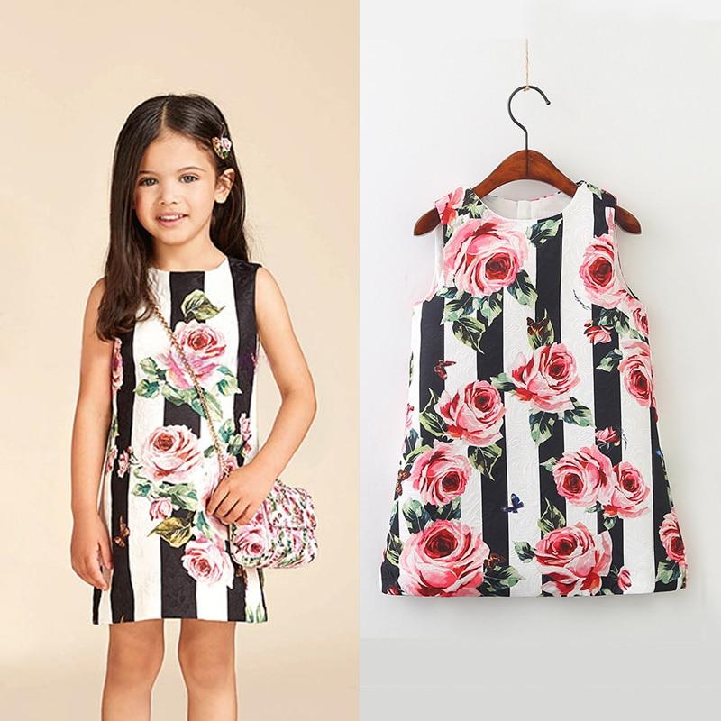 Aliexpress.com  Buy Little Girls Flowers Dress New Fashion Spring 2018 Brand Floral Girls ...