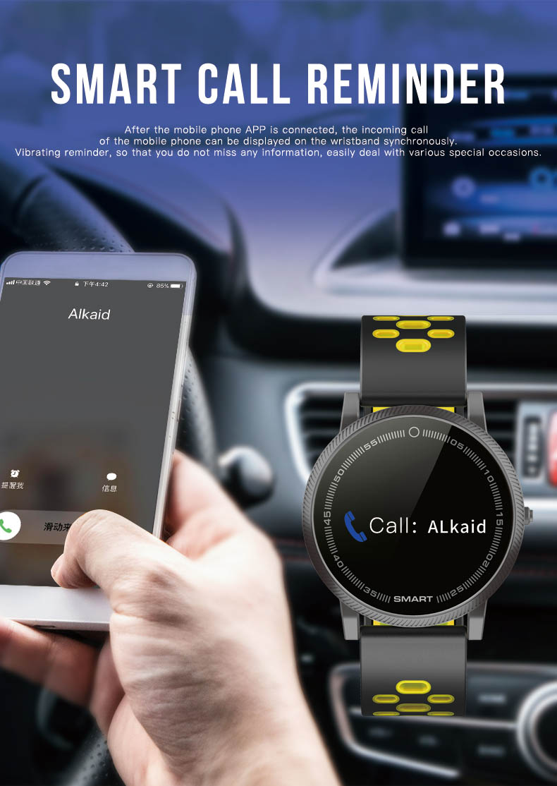 Pantalla de Color inteligente deportes pulsera ritmo cardíaco rastreador de Fitness pulsera inteligente presión arterial reloj para Huawei Mate RS 10 Pro 10 - 5