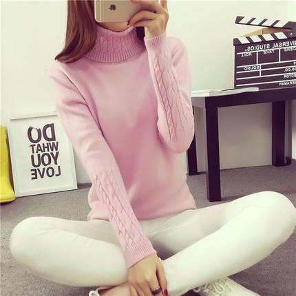 2019 hot výprodej Dámský rolák s dlouhým rukávem Kašmírové svetry a svetry dámské nadměrné tahy Femme Winter White svetr