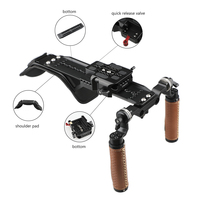 CAMVATE Shoulder Rig Handle Kit For C100 200 300 / fs5 fs7 / Panasonic AU EVA1