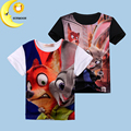 2-10Y zootopia t shirt new brand children clothing baby kids boys girl clothes toddler tops tees unisex summer t shirts hot sale