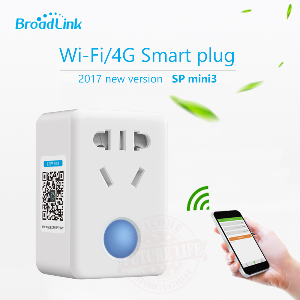 2017 Broadlink SP mini 3 Smart Wifi konektory Dálkový ovladač EU / AU / US / UK Wireless Controle Switch pro Android iOS