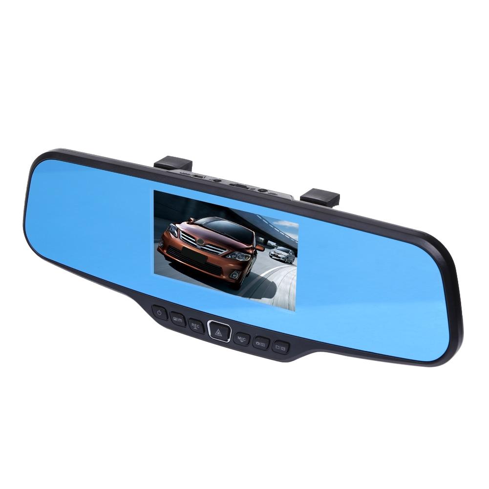 Car DVR Rearview Mirror Camera Full HD 1080P 4.3'' Digital Zoom Video Recorder Night Vision Dual Lens Car Registrar Camcorder
