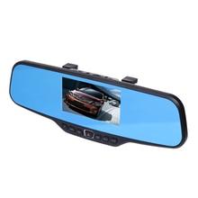 Видеорегистраторы для автомобилей Зеркало заднего вида Камера Full HD 1080 P 4.3 »цифровой зум Видео Регистраторы Ночное видение Двойной объектив Автомобильный регистратор видеокамера
