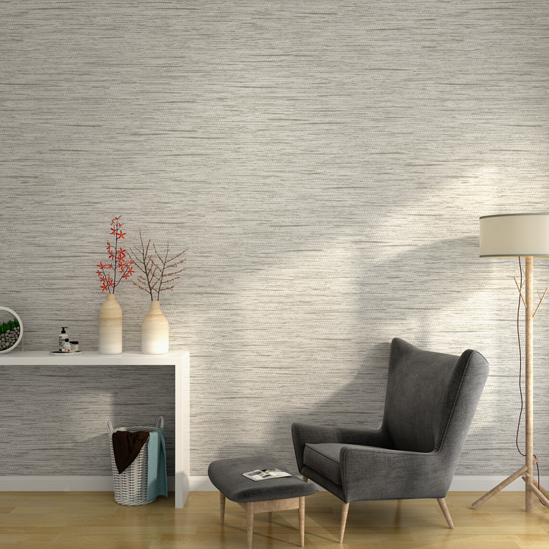 Modern Simple Solid Color Plain Linen Wallpaper Bedroom Non-woven Fashion Grey Straw Wallpaper Living Room TV Background Wall modern linen wall paper designs beige non woven 3d textured wallpaper plain solid color wall paper for living room bedroom decor